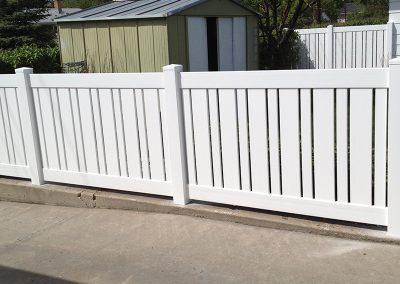 slatted pvc fence
