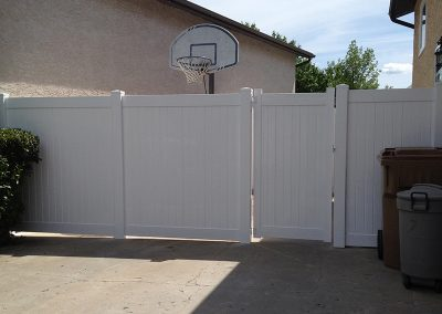 backyard pvc fence with gate