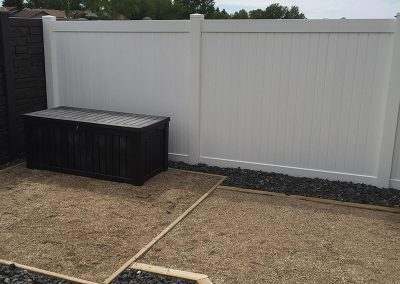 pvc fence with storage unit