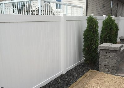 pvc fence and deck