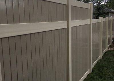 beige pvc fencing