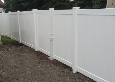 pvc fence with double gate