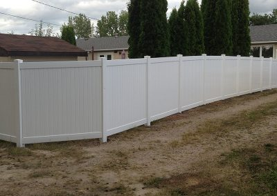 angled corner fence