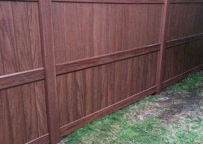 dark wood pvc fence